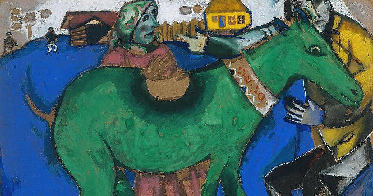 Marc Chagall, grænar kýr. Vorhátíð u3a.is