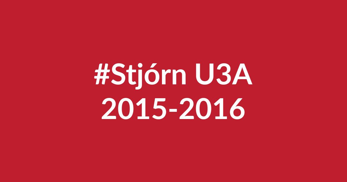 Stjórn U3A árin 2015-2016. u3a.is